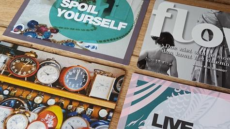 Postcard label stickers