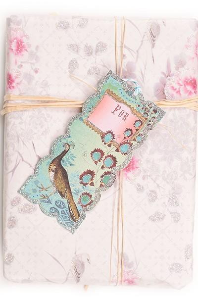 Glitter gift tags Sugar Plum - Papaya art | Meerleuks